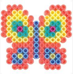 Perler Beads Fused Bead Kit, Pastel Butterfly by Perler Beads. Perler Bead Designs, Perler Bead Templates, Diy Perler Beads, Melty Bead Patterns, Pearler Bead Patterns, Perler Patterns, Beading Patterns, Pearl Beads Pattern, Peler Beads