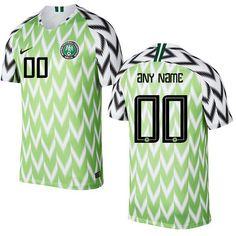9cfbc1e51 Men s Nigeria Team 2018-2019 Home Free Shipping Custom Jerseyâ   Green