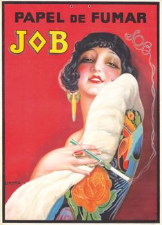 papier à cigarettes Job - Papel de Fumar - 1921 - (Gaspar Camps) -