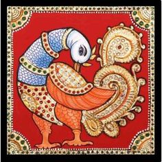 Buy dazzling swan tanjore paintings from our huge collection of tanjore paintings.Paintings of god,godess,birds,animals are available in madhurya at best price. Mysore Painting, Kalamkari Painting, Kerala Mural Painting, Indian Art Paintings, Madhubani Painting, Ravivarma Paintings, Kalamkari Fabric, Scenery Paintings, Kalamkari Saree