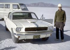 65 Ford Mustang Shelby Alex Tremulis beside a prototype Ford Mustang History, Ford Mustang 1964, 65 Mustang, Mustang For Sale, Mustang Fastback, Car Ford, Defender 90, Land Rover Defender, Mustangs