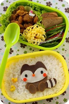 Raccoon bento