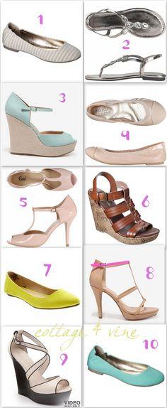 cottage and vine: 10 Spring Shoes For Under $50