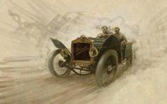 1908 Brasier GP Special by Stefan Marjoram