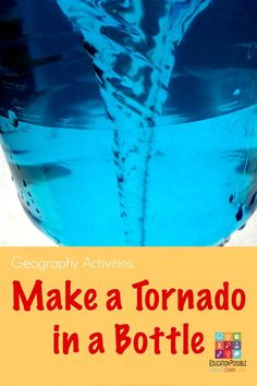 Make a Tornado in a Bottle @Education Possible Using our geography resources we are learning more about powerful storm systems and creating a hands-on project to make a tornado in a bottle.