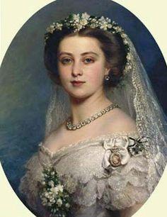La giovane Vicky nel celebre ritratto di Winterhalter                               http://donnenellastoria-wgabry.blogspot.it/2011/07/principessa-victoria-del-regno-unito.html