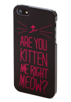 Cats No Joke! iPhone 5/5S Case. The only thing you love as much as the friendly feline you cuddle with each night? #black #modcloth