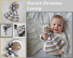 Sweet Dreams Lovey Crochet Amigurumi Pattern van AlaSascha op Etsy, $3.99