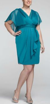 A beautiful style and color for the mother of the bride or groom of any size. Repin this!