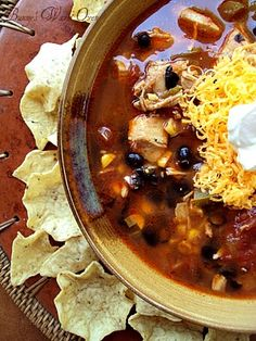 Fiesta Chicken Soup  Your going to be surprised at one of the ingredients in this soup, but I can tell you..it works very well !