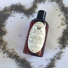 Micellar water is a great all natural way to remove makeup and cleanse skin. Great to use while camping or traveling too! Enhanced with Lavender essential oil to calm and nourish skin.