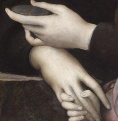 Portrait of Maria Salviati de' Medici with Giulia de' Medici (detail) Jacopo da Pontormo