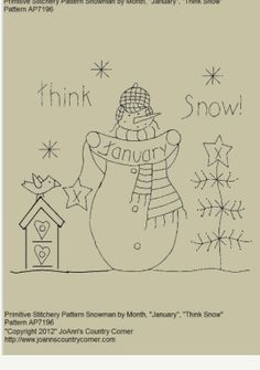 Monthly Snowman Quilt