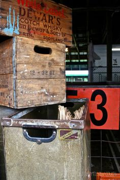 Vintage Wood Crates Stacked to Perfection ...