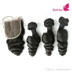 7A Peruvian Hair Bundles With Lace Closure Natural Black Human Hair Extensions Cheap Peruvian Loose Wave Hair With 3.5x4 Closures Online with $38.53/Piece on Babilhairsupplier's Store | DHgate.com