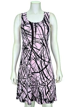 Pretty Woman Pink Print Tank Dress | PJ's Unique Peek | Women's Clothing Boutique | FREE SHIPPING!