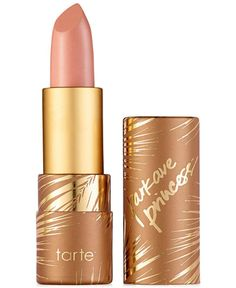 Like a drink of water for your lips, tarte's best-selling Amazonian butter lipstick is now available in everyone's favorite park ave princess shade for a radiant pop of natural-looking nude bronze as