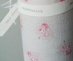 Peony & Sage Posies ~ £54.00 On Cashmere Pink (Cream Linen) - Peony & Sage