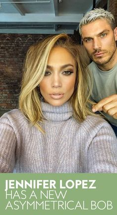 Jennifer Lopez switched up her hair again this fall with a new asymmetrical bob haircut. See the star's new look here. Face Shape Hairstyles, Bob Hairstyles, Party Hairstyles, Wedding Hairstyles, Pelo Bronde, Medium Hair Styles, Short Hair Styles, Jlo Short Hair, Short Hair Blowout