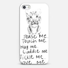 Love animals| #Love ! Personalize your #iPhone and #Samsung Galaxy device case using Instagram, Facebook and personal photos on #Casetagram #cute #animal #tiger #lovely