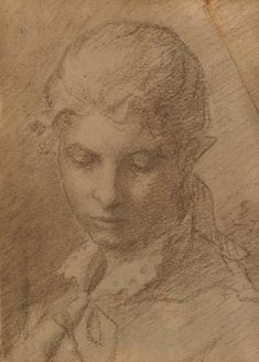 Helene Schjerfbeck - Portrait of a young lady, Pencil on paper