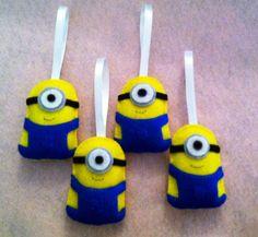 handmade minion ornaments - made by me