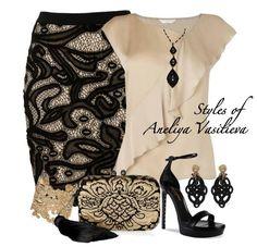 Hermosa vestimenta para una noche especial