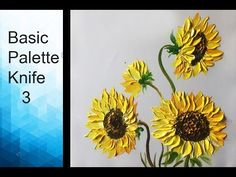 Paint wild flowers with Acrylic Paints and a Palette Knife - Basic Acrylic Techniques - Episode 1 Pallette Knife Painting, Palette Knife, Texture Painting, Acrylic Painting Flowers, Acrylic Painting Techniques, Acrylic Art, Paint Flowers, How To Paint Sunflowers, Artist Painting