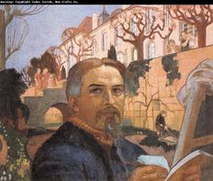 Maurice Denis. Self-portrait with His Family in Front of Their House oil