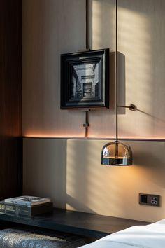 Pavilion Grey, Hotel Room Design, H Design, Hotel Interiors, Red Walls, Contemporary, Interior Design, Furniture, Ideas