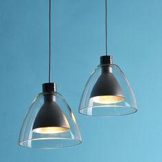 Double-Shade Mini Pendant Light Polished Chrome - Pendant Lights - Ceiling Lights - Lighting