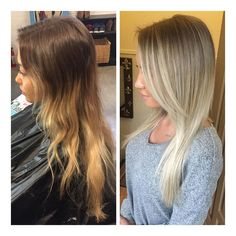 Ok I love a good before and after  #ombre#balayage#blonde#brunette#hair#olaplex#wella#wellalife#wellaeducation#vancouverhair#vancouver#vancity#la#lahair#hairstylist#guytanghair#guytang#behindthechair#braidsandbalayage#modernsalon#beforeandafter#fashion#girls#ootd#makeup#mua#americansalon#newyorkhair#allaboutdahair#cosmoprofbeauty by thingsbytams