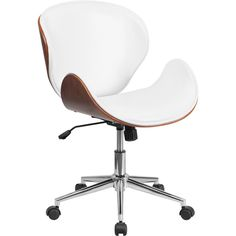 Flash Furniture Mid-Back Leather Conference Chair with Swivel   Wayfair