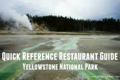 Quick Reference Restaurant Guide