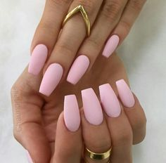 Love me some pink coffin matte nails I wish i could grow my nails enough for the coffin shape.