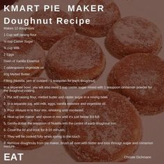 Pie Maker Doughnuts 🍩 – Foodie Mumma Ren - Love my food - Pie Recipes Mini Pie Recipes, Donut Recipes, Sweet Recipes, Dessert Recipes, Cooking Recipes, Scone Recipes, Pastry Recipes, Sunbeam Pie Maker, Breville Pie Maker