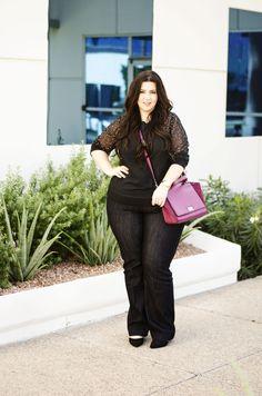 plus size trouser jeans, eloquii jeans, review, plus size fashion ootd