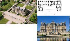 27. Francois Mansart, chateau de Maisons -Lafitte. (1642-1646). Los pabellones ya quedan perfectamente integrados en el conjunto del palacio.