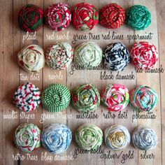 Darling rolled cotton rosette or rolled silk rosette!