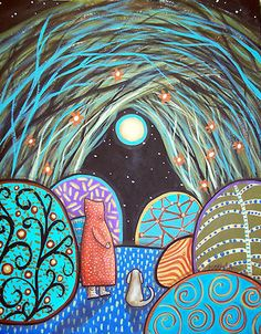 """11x14"""", Passage, original acrylic on 140lb watercolor paper, copyrighted, www.karlagerard.com"""