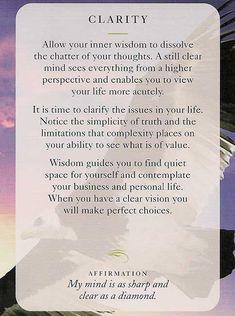 """""""Clarity"""" - Wisdom Card – Diana Cooper"""
