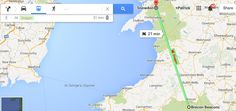 If you're trying to travel from Brecon Brecons in South Wales to Snowdon in Wales, Google Maps suggests you travel by dragon