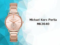 Black Leather Watch, Glass Material, Michael Kors Watch, Mineral, Period, Gender, Diamonds, Quartz, Rose Gold