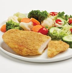 Breaded Chicken Breasts - Original - Fully cooked chicken breast meat that's great on a bun or as an entrée. Fillets removed. 8 portions. #mmmeatshops #backtoschool