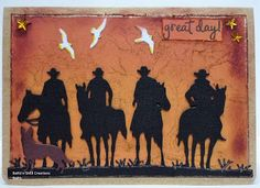 BaRb'n'ShEll Creations - Aussie outback Cowgirl Cakes, Horse Cards, Birthday Cards For Men, Paper Roses, Masculine Cards, Greeting Cards Handmade, Moose Art, Shells, Men's Cards