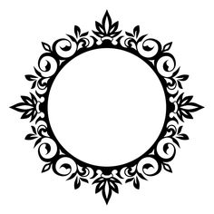 Motifs Islamiques, Islamic Motifs, Stencil Patterns, Stencil Designs, Thermocol Craft, Molduras Vintage, Silhouette Frames, Blog Backgrounds, Islamic Art Calligraphy