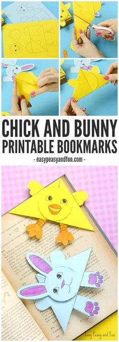 Printable Easter Corner Bookmarks