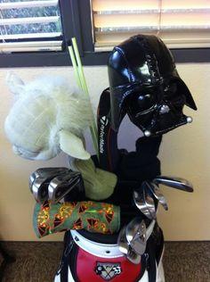 #starwars #darthvader #yoda #golfclubs