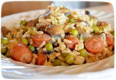 Ρυζότο σπέσιαλ Grains, Rice, Ethnic Recipes, Cook, Seeds, Laughter, Jim Rice, Brass
