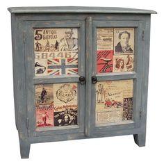 Vintage Sideboard Cabinet Socktail